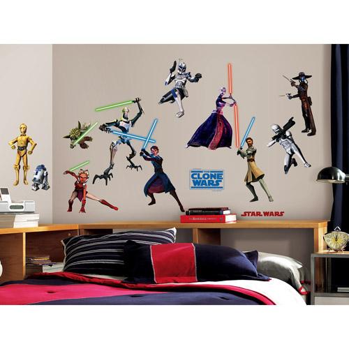 RoomMates - Star Wars Clone Wars Glow in the Dark Peel & Stick Wall Decals