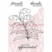"""Woodware Clear Stamps 3.5""""X5.5""""-Bubble Bloom - Melanie"""