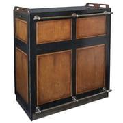 Authentic Models Casablanca Portable Lounge Bar - Black & Mahogany