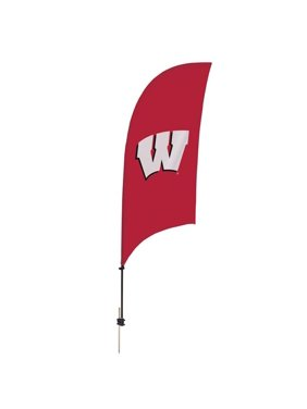 Showdown Displays 810028WIS-002 7.5 ft. Wisconsin Badgers Razor Feather NCAA Flag with Spike Base - No.002