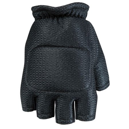 Empire BT Hard Back Fingerless Gloves - Black - Small/Medium