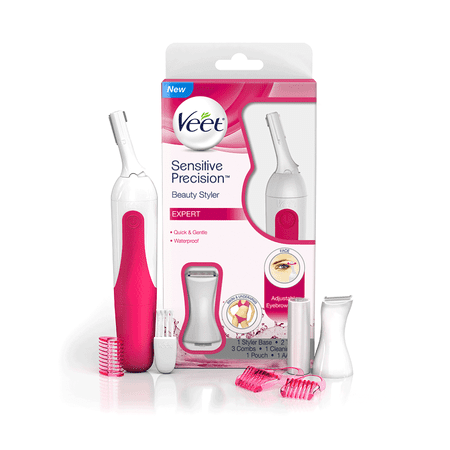 - Veet Sensitive Precision Hair Trimmer and Shaper for Eyebrows, Facial Hair, Bikini Line, and Underarm