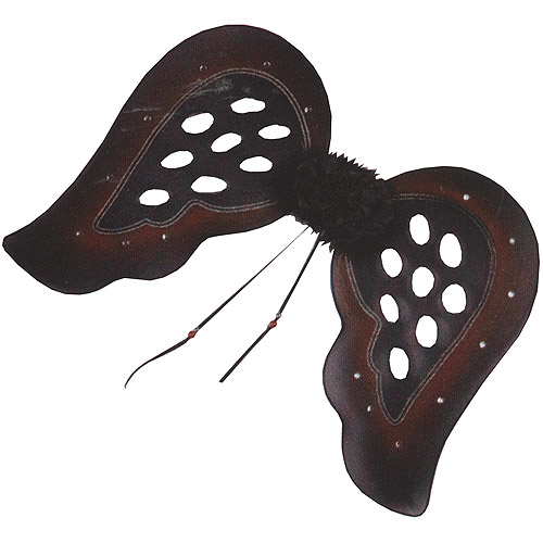 Black and Burgundy Teardrop Gothic Wings Adult Halloween Accessory