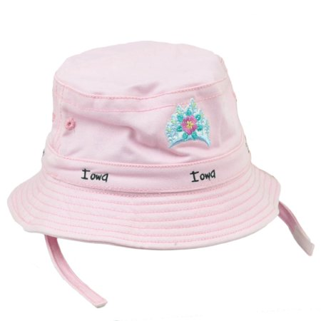 Crusher Sun Hat (Iowa Gem State Pink Toddler Sun Bucket Crusher Hat USA America Crown)
