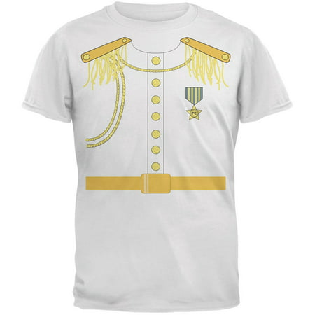 Prince Charming Costume White Adult T-Shirt - Adult Prince Charming