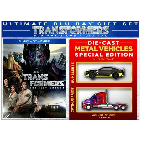 Transformers: The Last Knight (Walmart Exclusive) (Blu-ray+ DVD + Digital + 2 Die Cast Metal Vehicles)