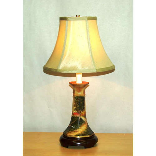 Lamp Factory Farm Scene 21'' H Table Lamp with Bell Shade