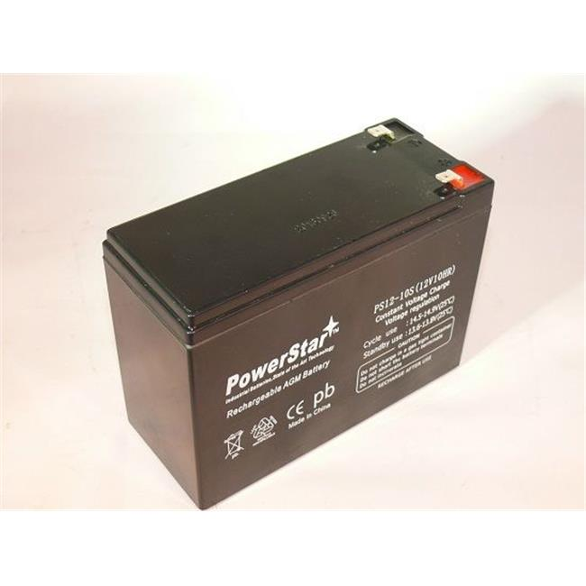 PowerStar PS12-10-54 12V 10Ah Scooter Battery Replaces Vision Cp12100S F2, Cp 12100S F2