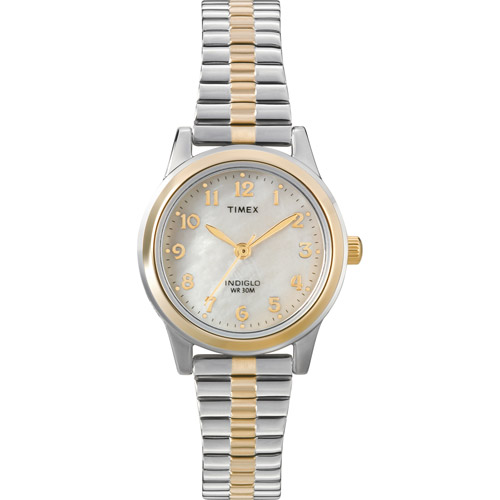 Timex Women's Essex Avenue Watch, Two-Tone Stainless Steel Expansion Band