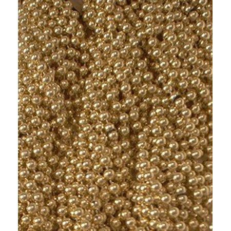 Girls At Mardi Gras (72 Gold Mardi Gras Gra Beads Necklaces Party Favors 6 Dozen)