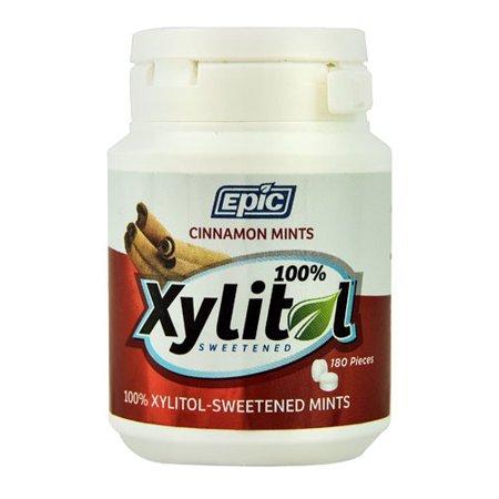 Epic Dental Mints - Cinnamon Xylitol Bottle - 180 Ct Cinnamon Flavor Mints
