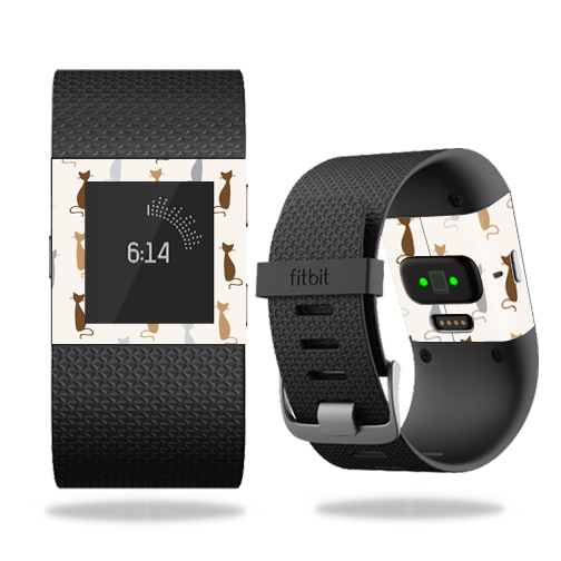 Skin Decal Wrap for Fitbit Surge cover skins sticker watch Cat Lady