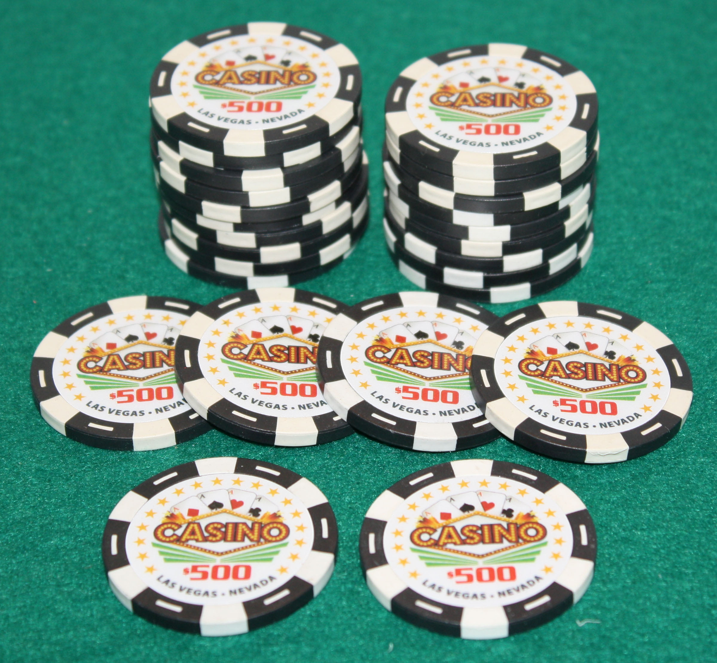 $500 Pro Vegas Casino Chips *Super High Quality* Poker Chip 11.5 Grams (QTY: 25) by