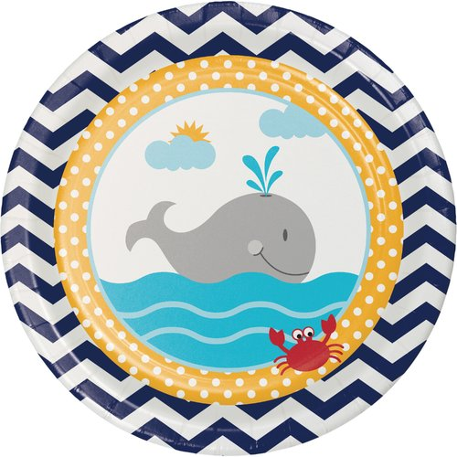 Creative Converting Ahoy Matey Nautical Paper Appetizer Plate (Set of 24)