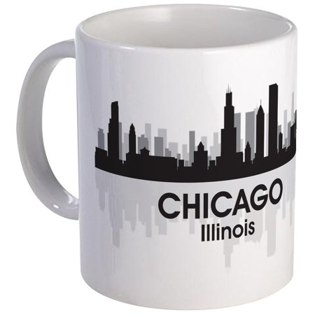 CafePress - Chicago Skyline Mug - Unique Coffee Mug, Coffee Cup CafePress](Chicago Bears Cup)