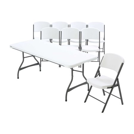 Lifetime 6-Foot Stacking Table and (8) Chairs Combo (Commercial) ()