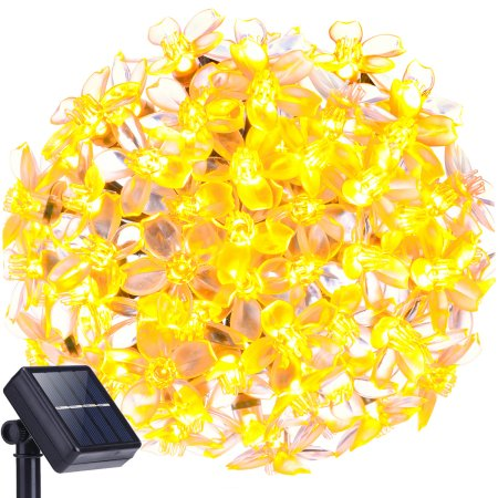 Decornova 20ft 50 LEDS Outdoor Solar String Lights, IP44 Waterproof Solar Powered Crystal Flower LED Party String Lights for Patio with... by