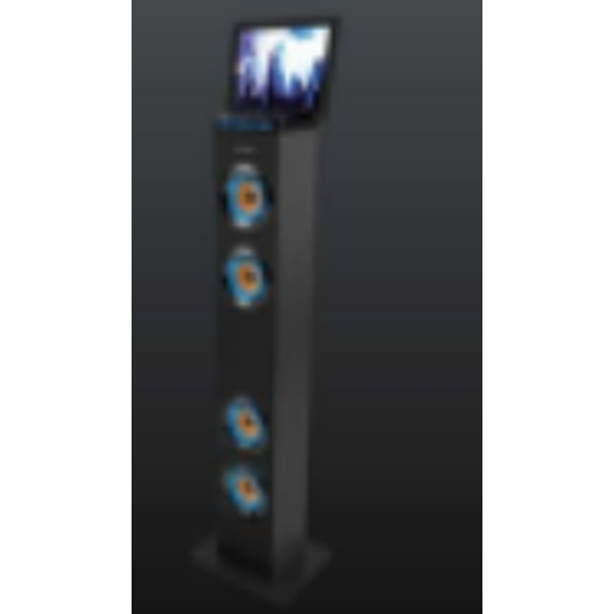 Sharper Image Sbt1001wh Bluetooth Tower Speaker With Lights Fm