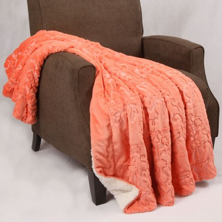 BOON Batik Faux Fur Embroidery Sherpa Throw Blanket](Blanket Embroidery)