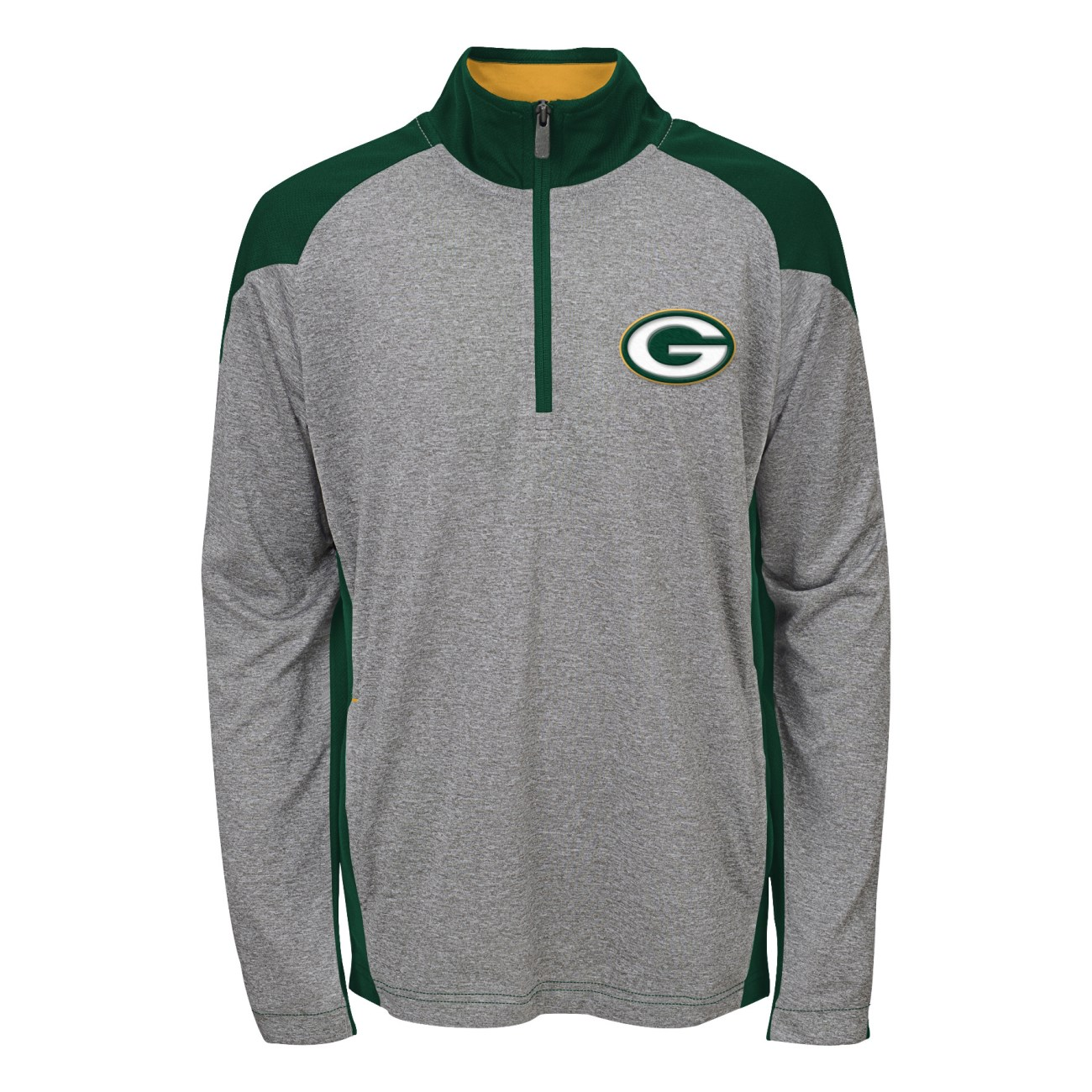 "Green Bay Packers Youth NFL ""DNA"" Lightweight 1/4 Zip Pullover Sweatshirt"