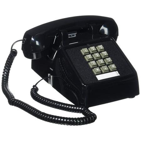 (ITT-2500-MD-BK) Single Line Desk TelephoneDouble-Gong Ringer By Cortelco