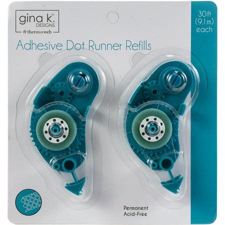 Dot Adhesive Runner (Gina K Designs Adhesive Dot Runner Refill 30ft 2/Pkg-Permanent)
