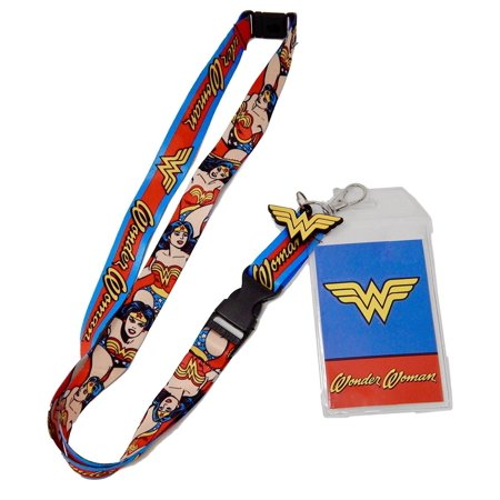 DC Comics Wonder Woman Logo Charm Breakaway Lanyard, Officially licensed DC Comics merchandise By Bioworld From USA