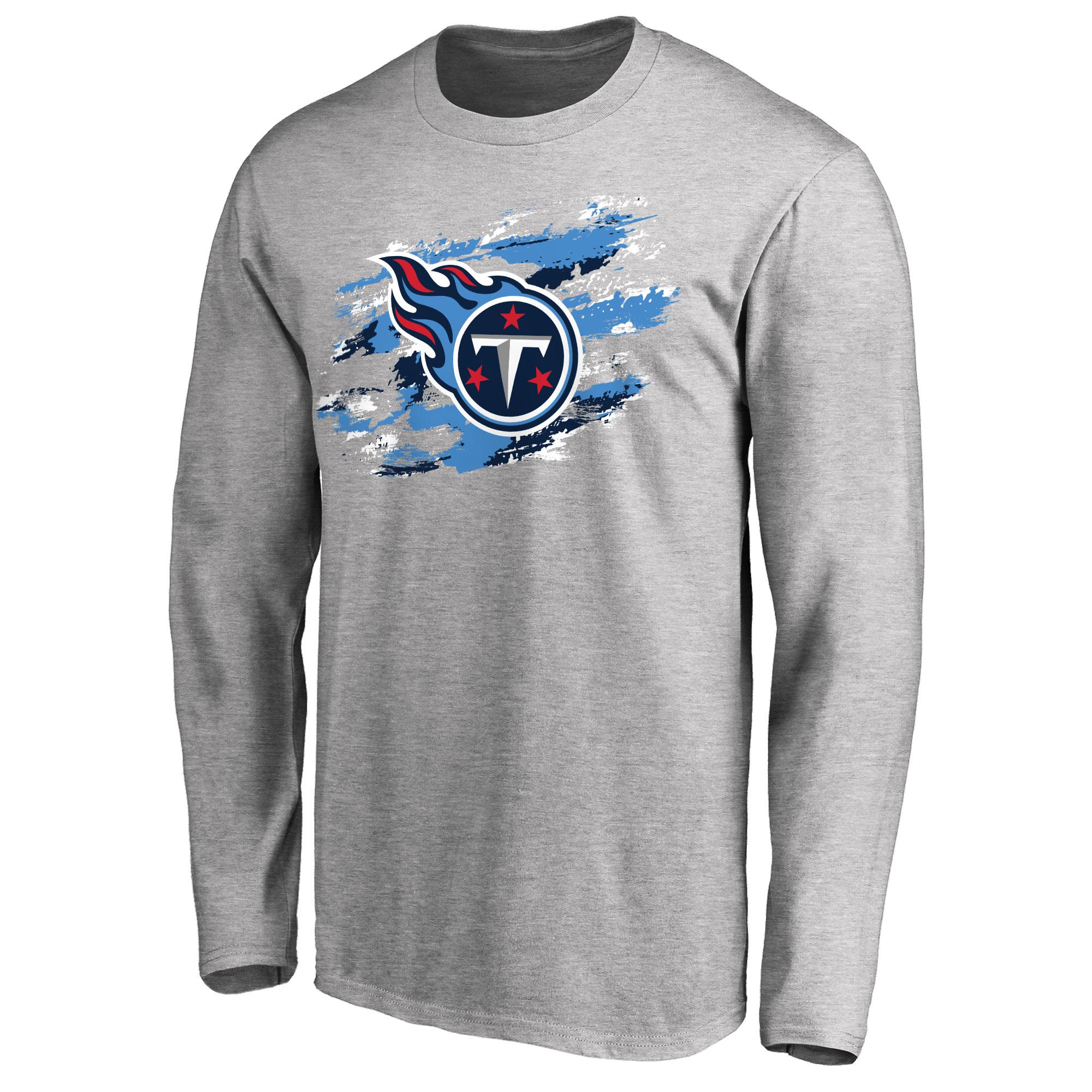 Tennessee Titans NFL Pro Line True Colors Long Sleeve T-Shirt - Ash