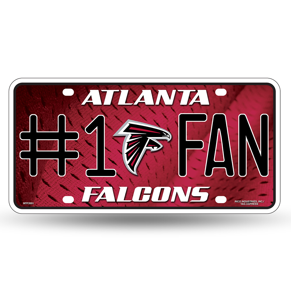 Atlanta Falcons NFL Metal Tag License Plate (#1 Fan)