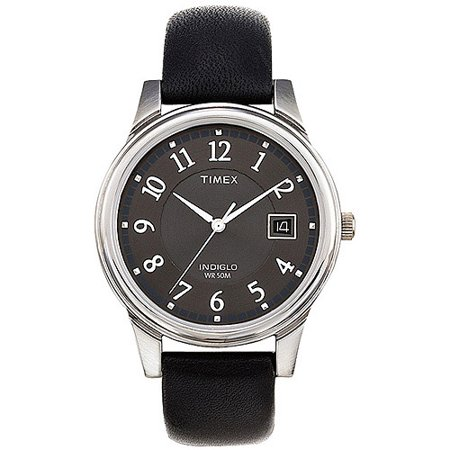 Timex Mens Porter Street Watch  Black Leather Strap