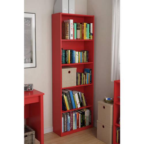 Ameriwood 5Shelf Bookcase Multiple ColorsWalmartcom