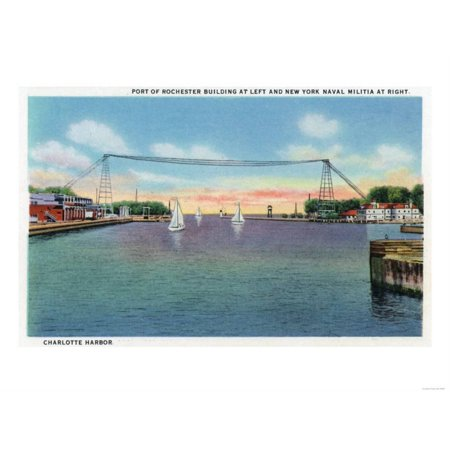 Rochester, NY - Charlotte Harbor View of Rochester Port and NY Naval Militia Print Wall Art By Lantern Press](Buy Buy Baby Rochester Ny)