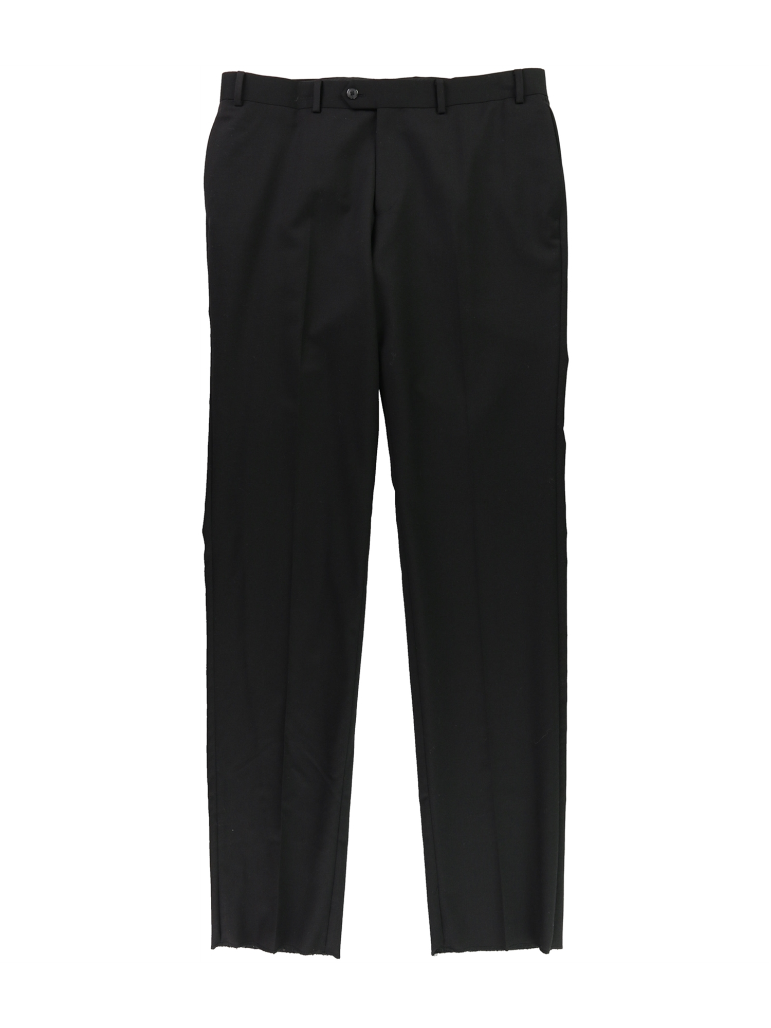 bar III Mens Unfinish Hem Dress Slacks black 35x38