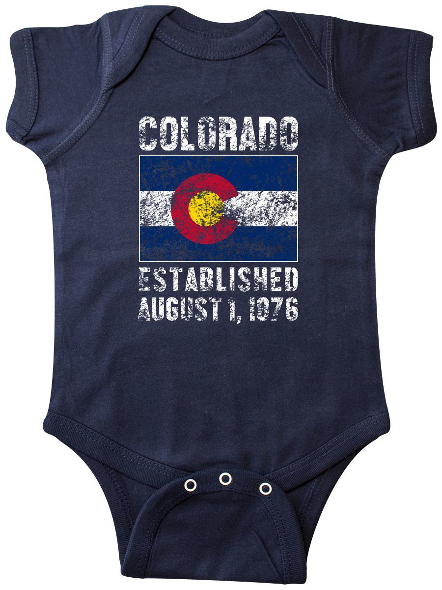 Established August 1, 1876 Colorado Flag Infant Creeper by Inktastic