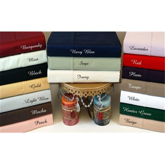300 Thread Count Twin Sheet Set Egyptian Cotton Solid