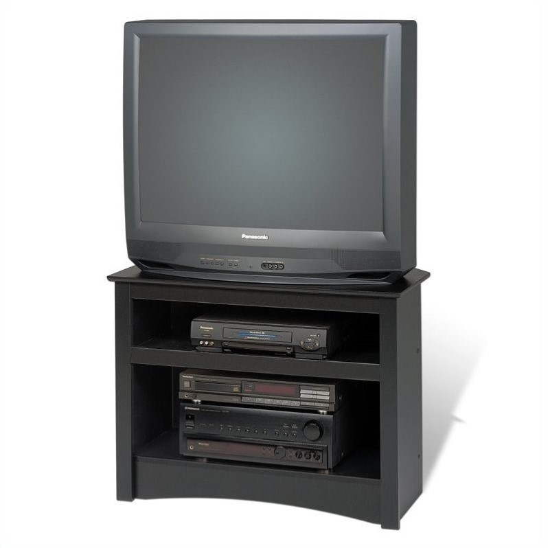Prepac Sonoma 32 Corner Tv Stand In Black Laminate Walmart Com