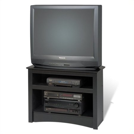 "Prepac Sonoma 32"" Corner TV Stand in Black Laminate"