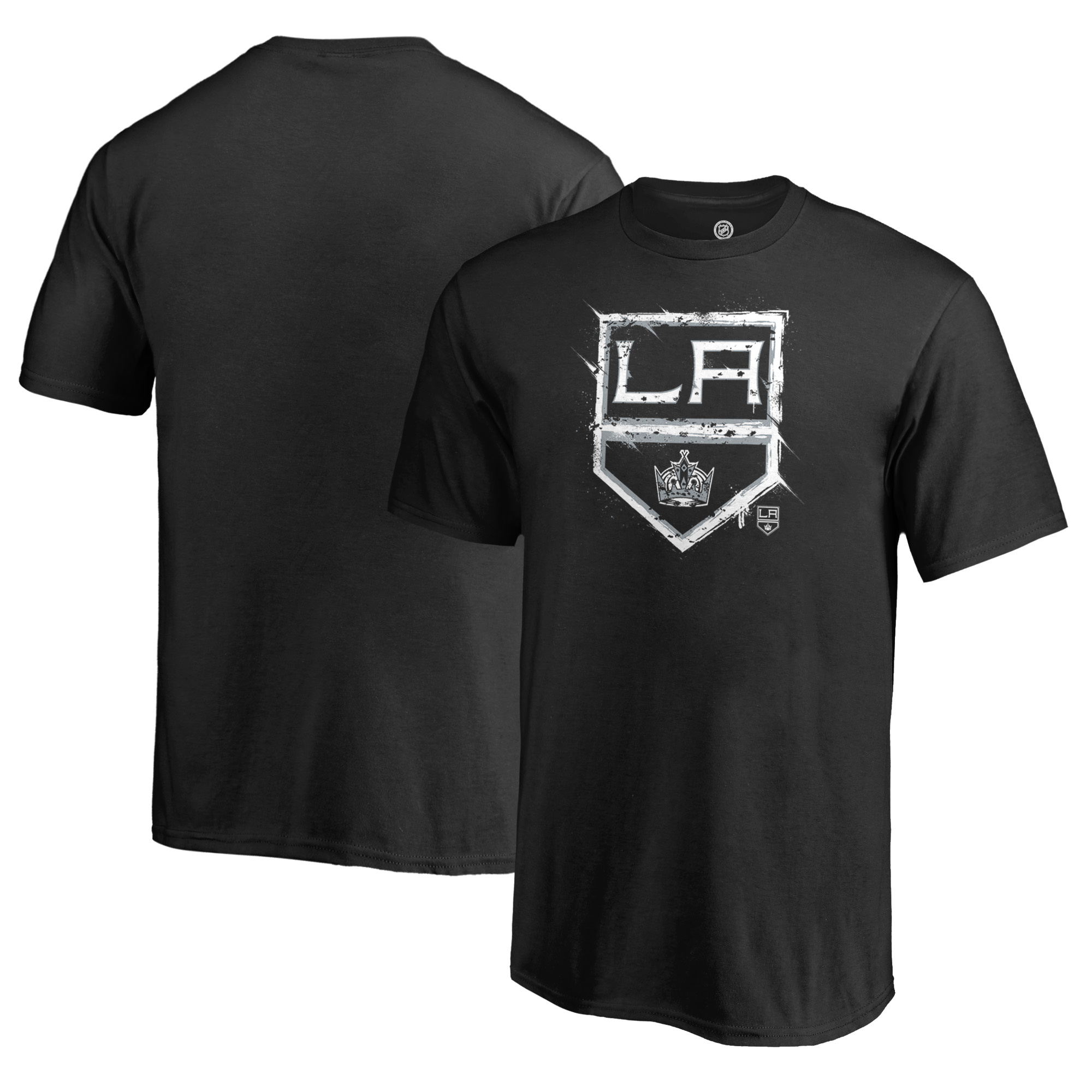 Los Angeles Kings Fanatics Branded Youth Splatter Logo T-Shirt - Black