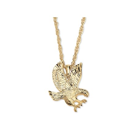Mens yellow gold tone eagle pendant rope chain necklace 24 mens yellow gold tone eagle pendant rope chain necklace aloadofball Images