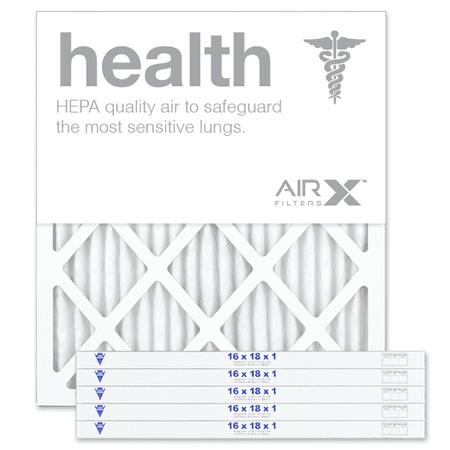 AIRx Filters Health 16x18x1 Air Filter MERV 13 AC Furnace Pleated Air