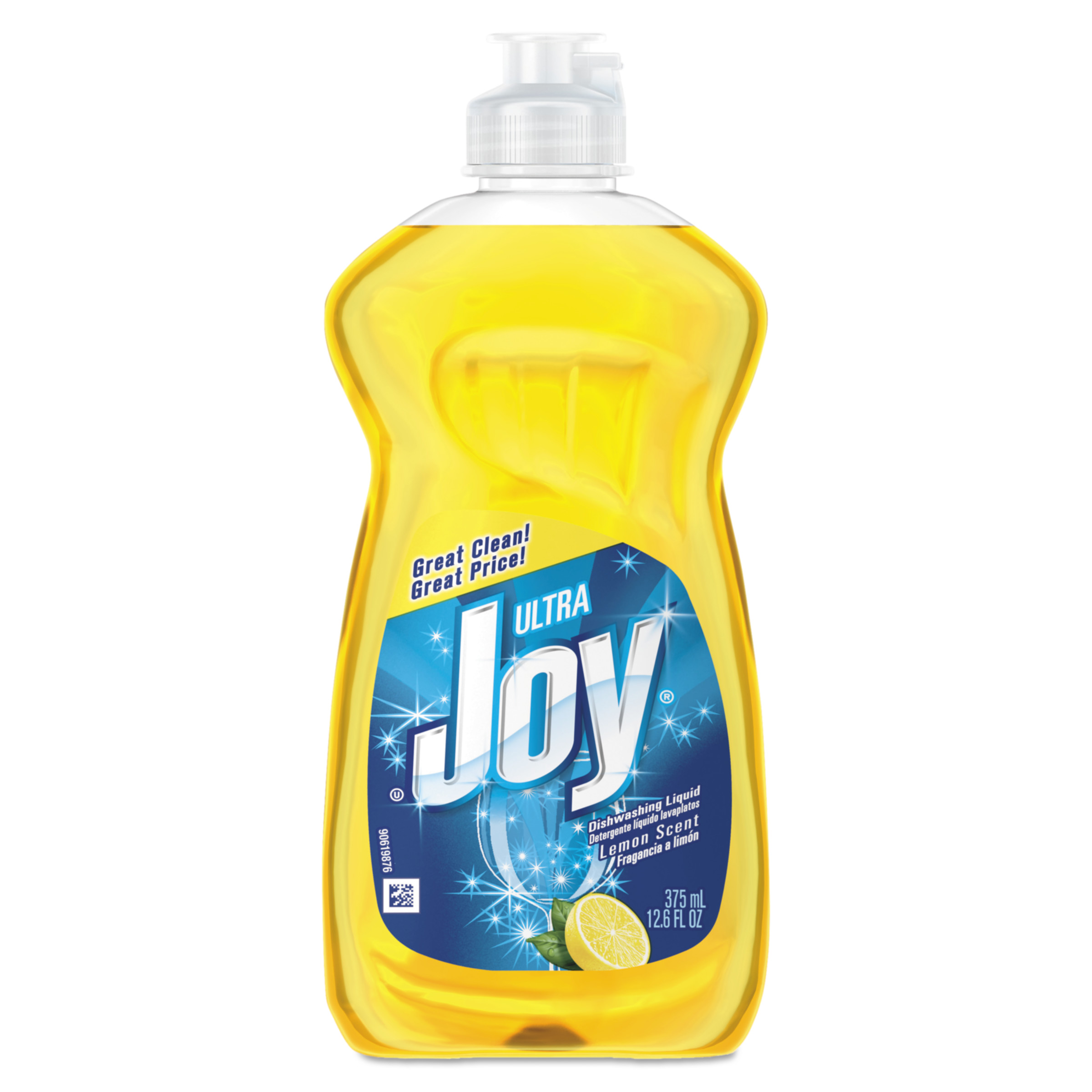 Joy Dishwashing Liquid, Lemon, 12.6 oz Bottle, 25/Carton
