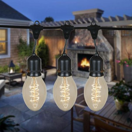 48 foot ps58 edison outdoor string lights suspended commercial 48 foot ps58 edison outdoor string lights suspended commercial grade string lights backyard aloadofball Images
