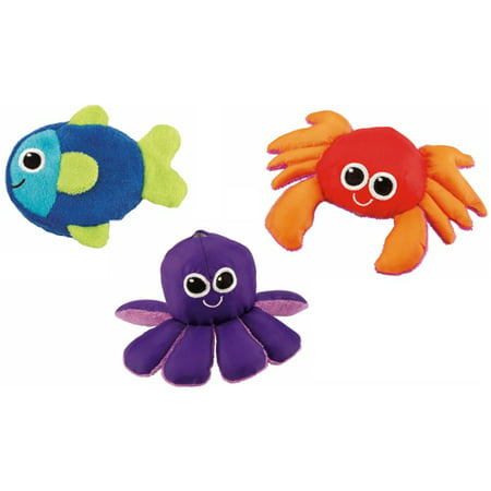Sassy Soft Swimmers Animal Characters Bath Toy, 3 Pack