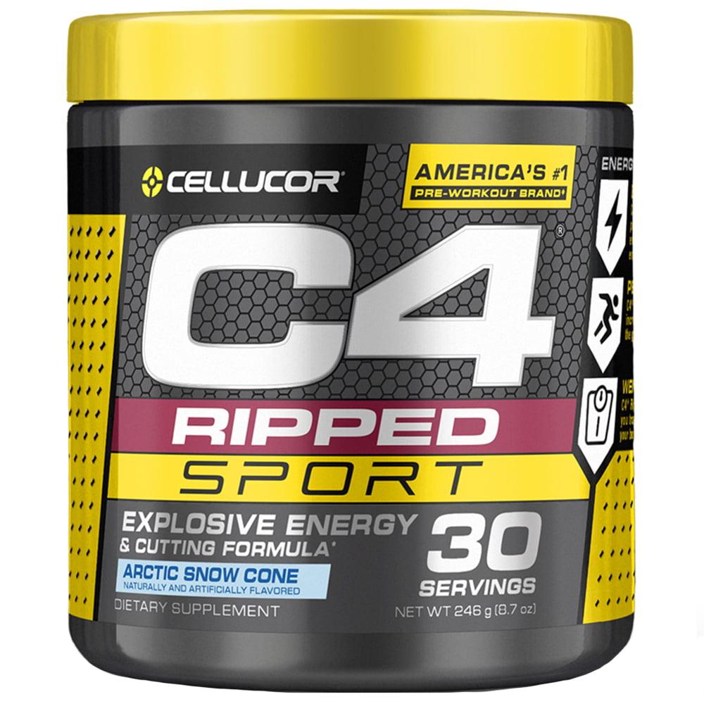 Cellucor C4 Ripped Sport Pre Workout Powder, Arctic Snow Cone, 30 Servings  - Walmart.com - Walmart.com
