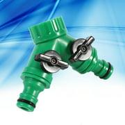 "1Pcs 2-Way Adapter Y Connector Adaptor Switch Garden Watering Drip Irrigation Hose Pipe Splitter 3/4"",garden water connector, Watering Tap connector,Hose Pipe Splitter"