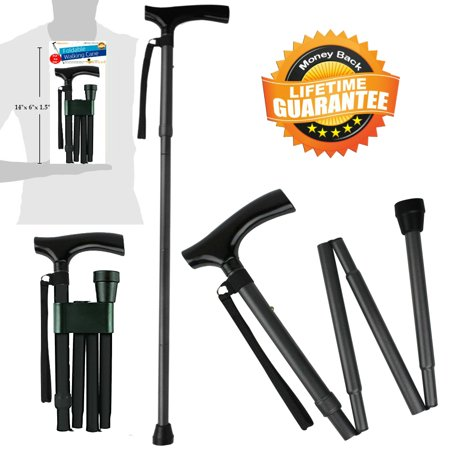 Canes and Walking Sticks for Men and Women Travel Adjustable Folding Walking Cane best Mobility Aids For Seniors Disabled and (The Best Walking Cane)