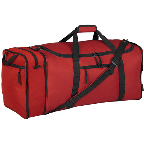 "Travelers Club 28"" Expandable Duffel Bag, Red"