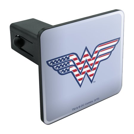 Wonder Woman USA American Flag Logo Tow Trailer Hitch Cover Plug Insert Logo Hitch Plug