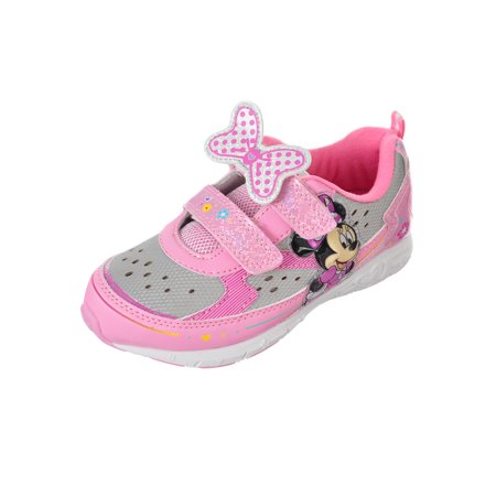 Disney Minnie Mouse Girls' Light-Up Sneakers (Sizes 7 - - Minnie Mouse Shoes Adults