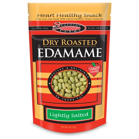 Seapoint Farms Lightly Salted Dry Roasted Edamame, 4 OZ (Pack of 12)](Edamame Appetizer)